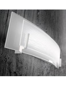 Overlap applique LED rettangolare vetro serigrafato moderna luce calda