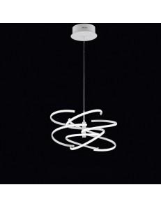 PERENZ: Sospensione LED moderna metallo bianco luce calda in offerta