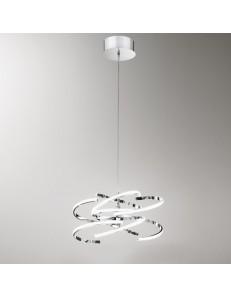 PERENZ: Sospensione LED moderna metallo cromo luce calda in offerta