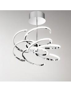 Perenz: Plafoniera LED moderna metallo cromo lucido luce calda