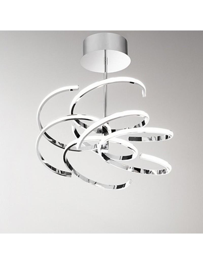 PERENZ: Plafoniera LED moderna metallo cromo lucido luce calda in offerta