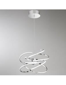 Perenz: Sospensione moderna LED metallo cromo lucido luce calda