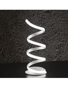 Perenz: Abat jour moderna LED metallo bianco luce calda in