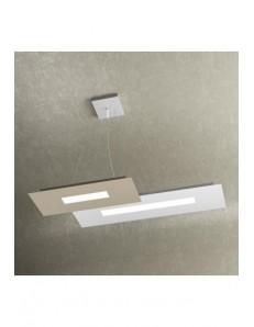 Sospensione moderna Led Wally 1138/S2-BS Top Light 71 cm bianco sabbia