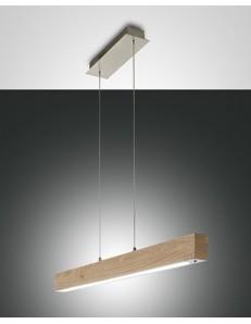 Badia sospensione barra legno naturale quercia led regolazione al tocco altezza regolabile lunghezza 110 cm