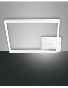 Fabas Luce: Plafoniera LED quadrata moderna dimmerabile bianco