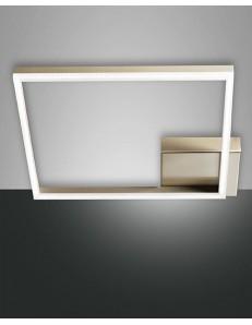 Fabas Luce: Plafoniera LED quadrata dimmerabile oro opaco in
