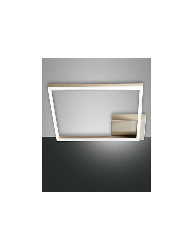 FABAS LUCE: Bard plafoniera LED quadrata dimmerabile oro opaco in offerta
