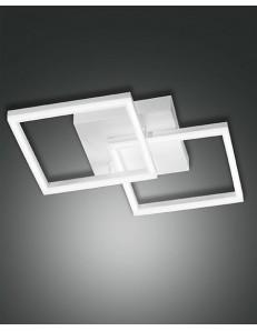 PLAFONIERA MODERNA LED 39 W doppio quadrato 3510 LUMEN DIMMERABILE BIANCO FABAS