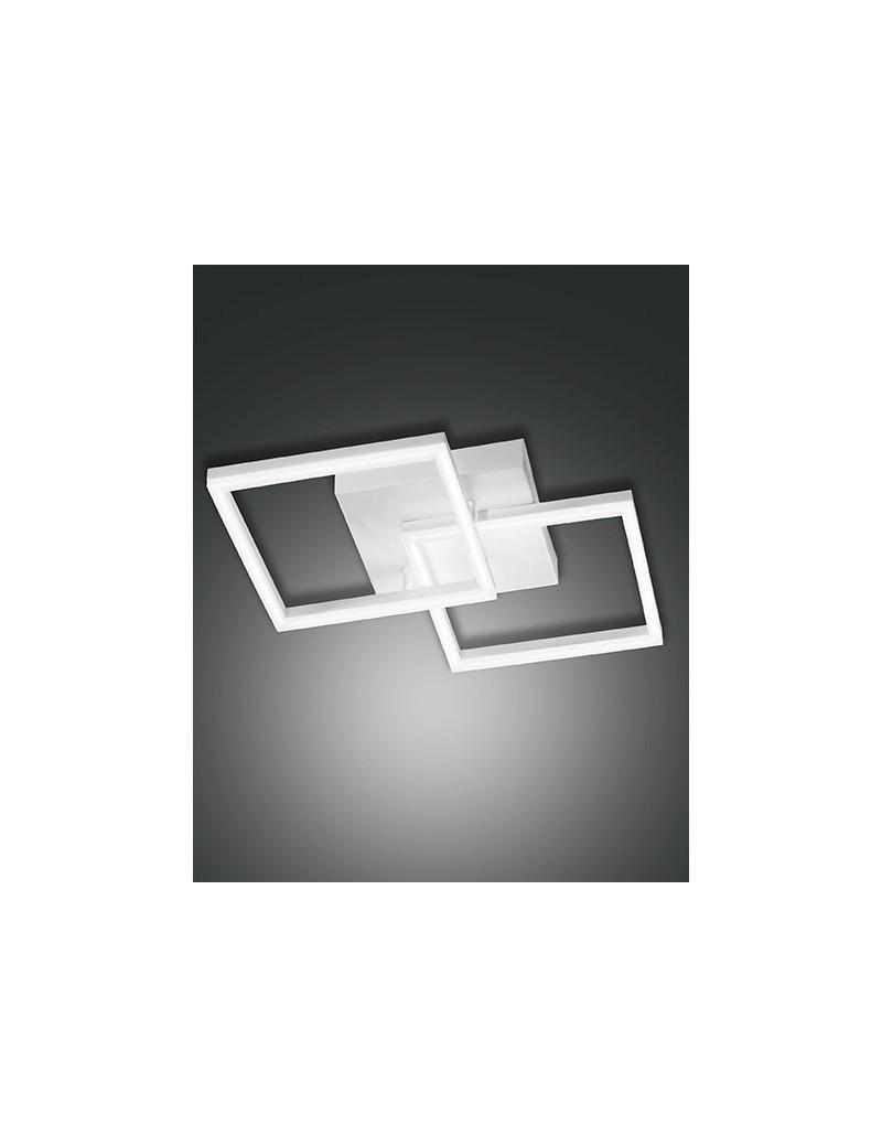Plafoniera Moderna Led.Bard Plafoniera Moderna Led Doppio Quadrato Dimmerabile Bianco