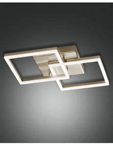 Fabas Luce: Plafoniera moderna LED doppio quadrato dimmerabile