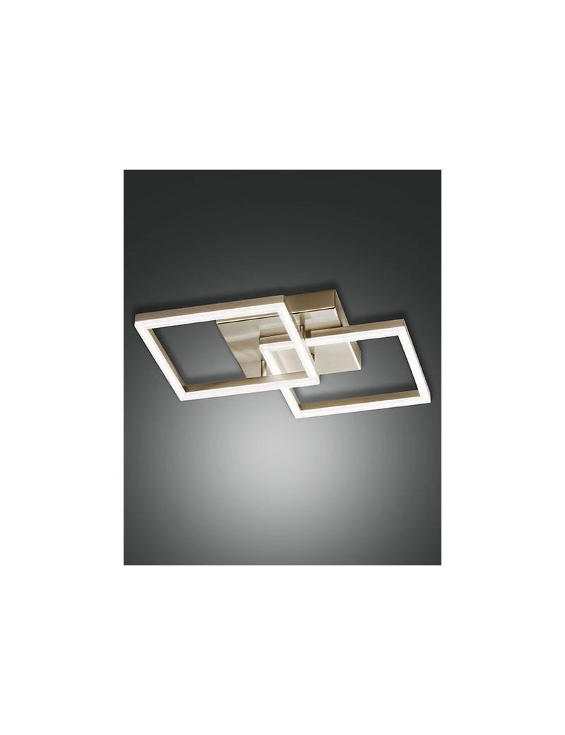 FABAS LUCE: Bard plafoniera moderna LED doppio quadrato dimmerabile oro opaco in offerta
