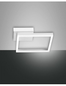 Fabas Luce: Applique plafoniera LED quadrata dimmerabile bianco