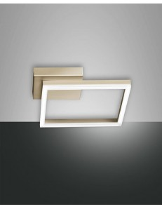 Applique plafoniera moderna LED quadrata dimmerabile oro opaco