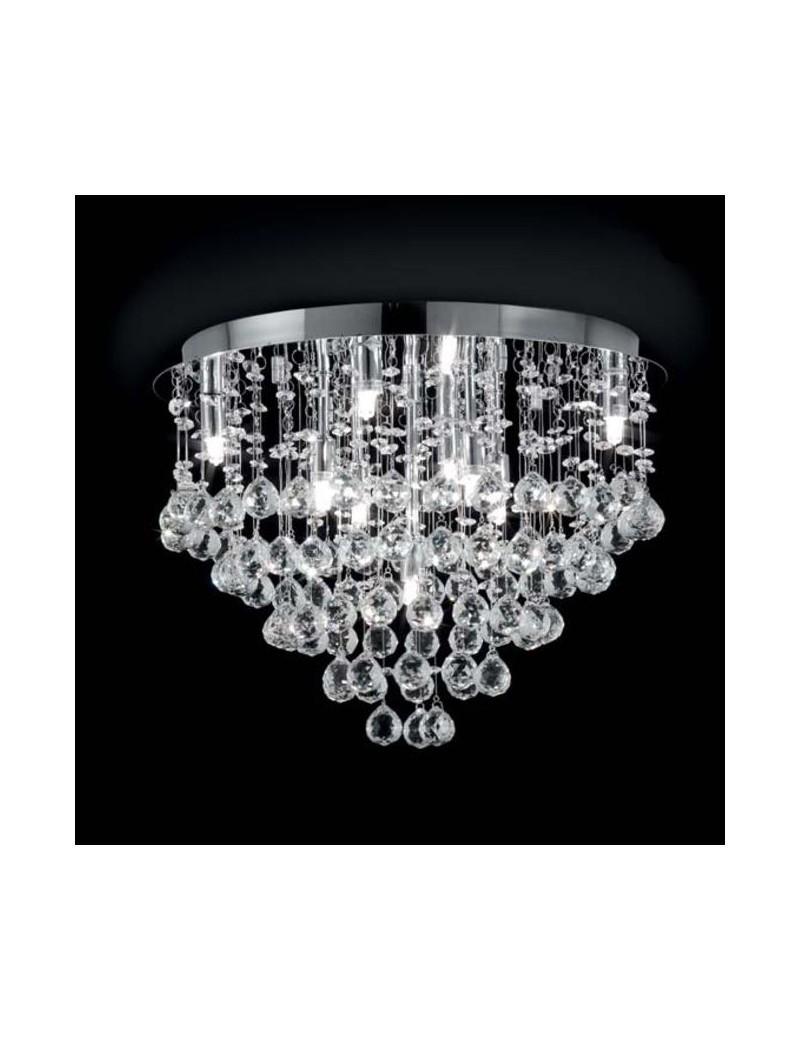 Plafoniera in cristallo con pendenti gocce diametro 40 for Camera da letto luci
