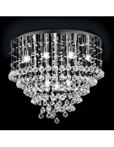 MR DESIGN: Plafoniera in cristallo con pendenti gocce per soggiorno 12 luci 60cm in offerta