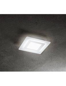 Plafoniera LED quadrata bianco luce naturale 35cm