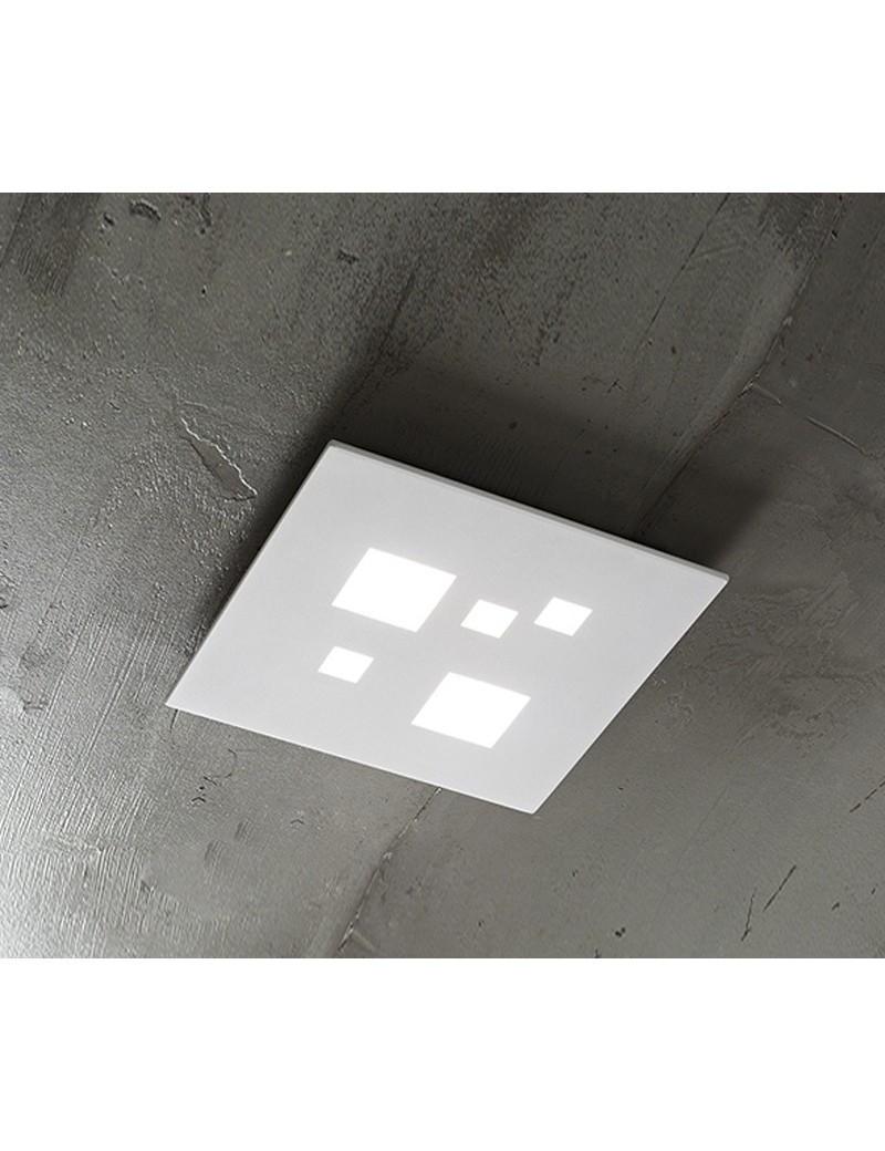 PERENZ: Plafoniera LED quadrata luce calda bianco 30cm in offerta