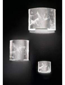 ROBBELAT 3 misure applique parete moderna decoro argento antealuce corridoio ingresso camera soggiorno