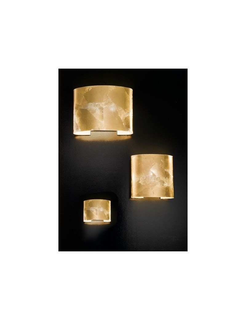 ROBBELAT 3 misure applique parete moderna decoro oro antealuce corridoio