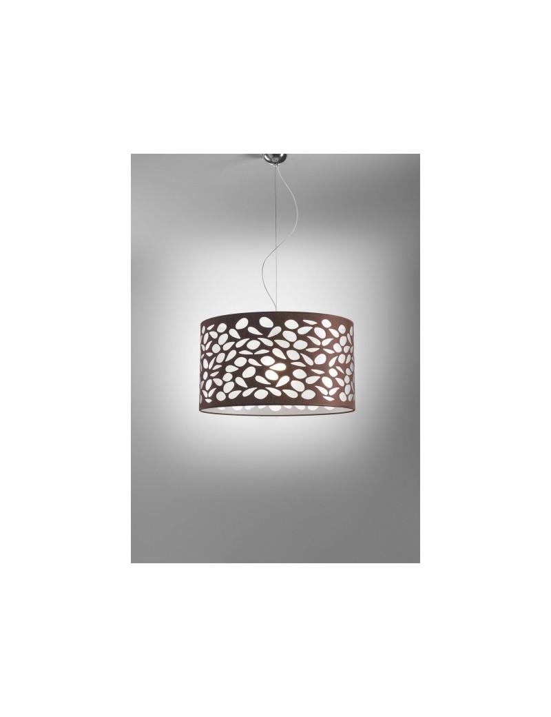 Luce Sospensione Design.Intagli Di Luce Sospensione Design Luminoso E Trasparente Moka E Bianco 50cm
