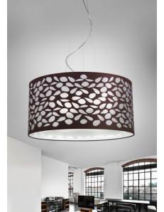 ANTEALUCE: Intagli di luce sospensione moderna moka e bianco design luminoso e trasparente 75cm in