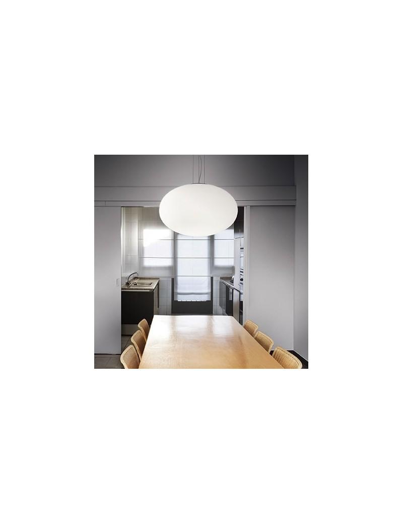 Candy sospensione sfera bianca diam 50 camera cucina vetro ...