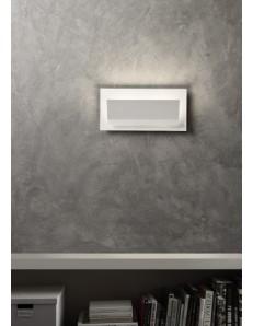 Shelf applique LED moderna rettangolare design luminoso bianca