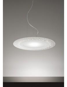 BLOOM sospensione 29 W LED DIMMERABILE moderna ROTONDA DECORATA VETRO DIAM 55 ANTEALUCE