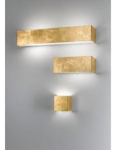 GOLDIE 3 misure applique parete moderna decoro oro antealuce corridoio ingresso camera soggiorno