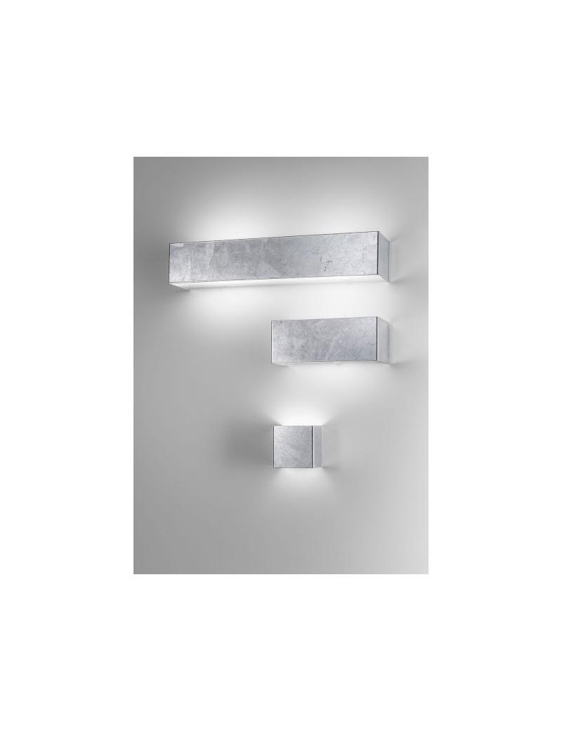 SILVER 3 misure applique parete moderna decoro argento antealuce ...