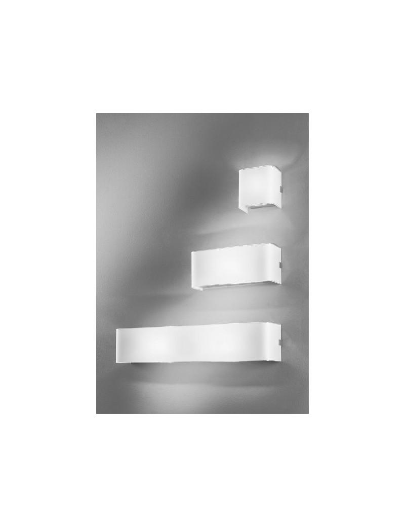 LINEAR white LED 3 misure applique parete moderna antealuce chiaro VETRO