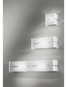 LINEAR GREY 3 misure DECORO ARGENTO applique parete moderna antealuce RETTANGOLARE QUADRATA corridoio ingresso camera soggiorno