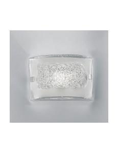 ANTEALUCE: Carolina small applique moderna rettangolare cristallo con inserti filo trasparente in