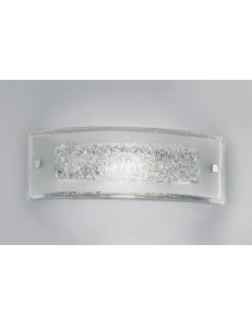 ANTEALUCE: Carolina applique LED rettangolare cristallo con inserti filo trasparente media in