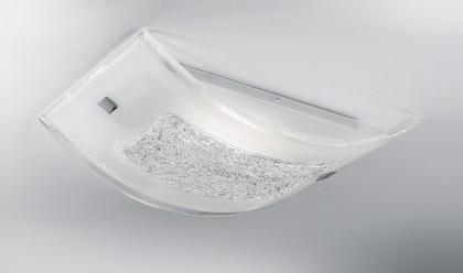 Plafoniera Rettangolare Cristallo : Carolina plafoniera soffitto moderna rettangolare cristallo trasparente
