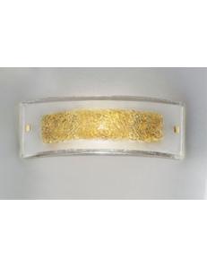 ANTEALUCE: Carolina media applique moderna rettangolare cristallo con inserti filo ambra in offerta