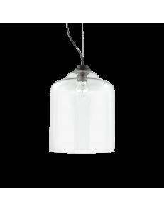 IDEAL LUX: Bistro sp1 square sospensione vetro trasparente altezza regolabile 24cm in offerta