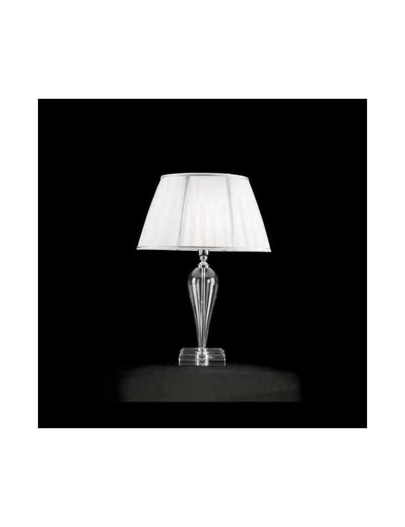 bizet lumetto abat jour vetro trasparente decorazioni cromo paralume ...