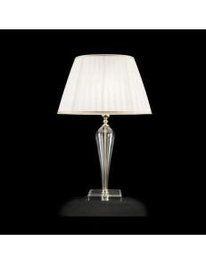 bizet lume vetro trasparente decorazioni oro paralume tessuto camera da letto soggiorno