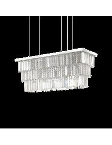 IDEAL LUX: Martinez sp6 sospensione rettangolare con pendenti cristallo frangia mattonelle in