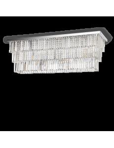IDEAL LUX: Martinez pl8 plafoniera rettangolare con pendenti cristallo frangia mattonelle in offerta