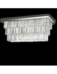 IDEAL LUX: Martinez pl6 plafoniera rettangolare con pendenti cristallo frangia mattonelle in offerta