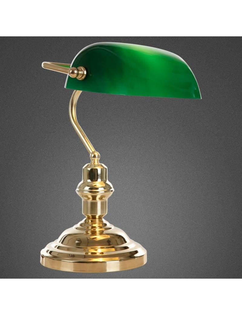 Lampada Da Scrivania In Ottone.Lampada Da Tavolo Ottone E Vetro Verde Scrivania Ufficio Globo 2491