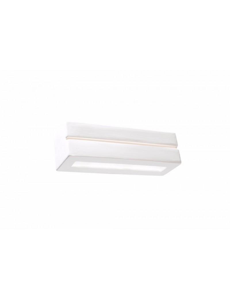 GLOBO LIGHTING: Applique rettangolare in ceramica verniciabile bianca in offerta