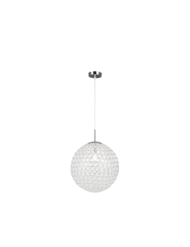 GLOBO LIGHTING: Lampadario sfera cristallo acrilico 40cm in offerta