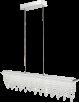 GLOBO LIGHTING: Sospensione barra LED cristalli k5 pendenti 90cm in offerta