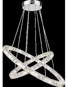 Globo: Marilyn lampadario LED anelli cristallo regolabile