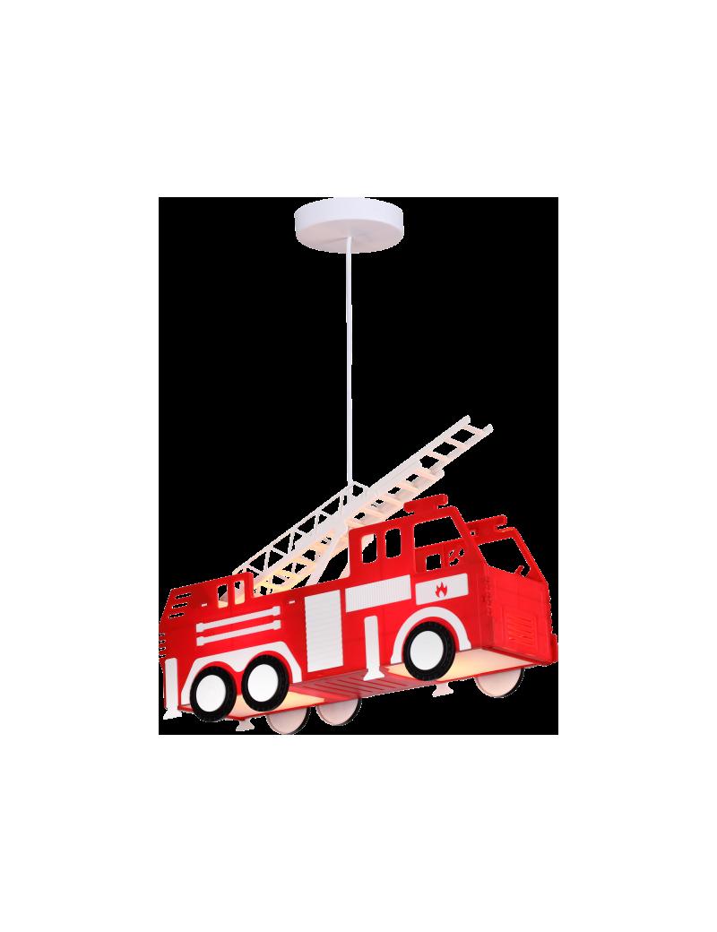 Lampadario cameretta bambini camion pompieri globo rosso for Applique cameretta bimbi