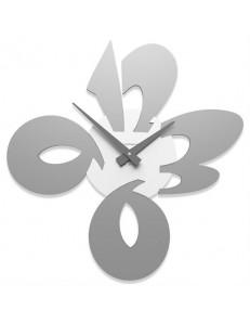 CALLEADESIGN: Orologio moderno da parete legno colore alluminio in offerta